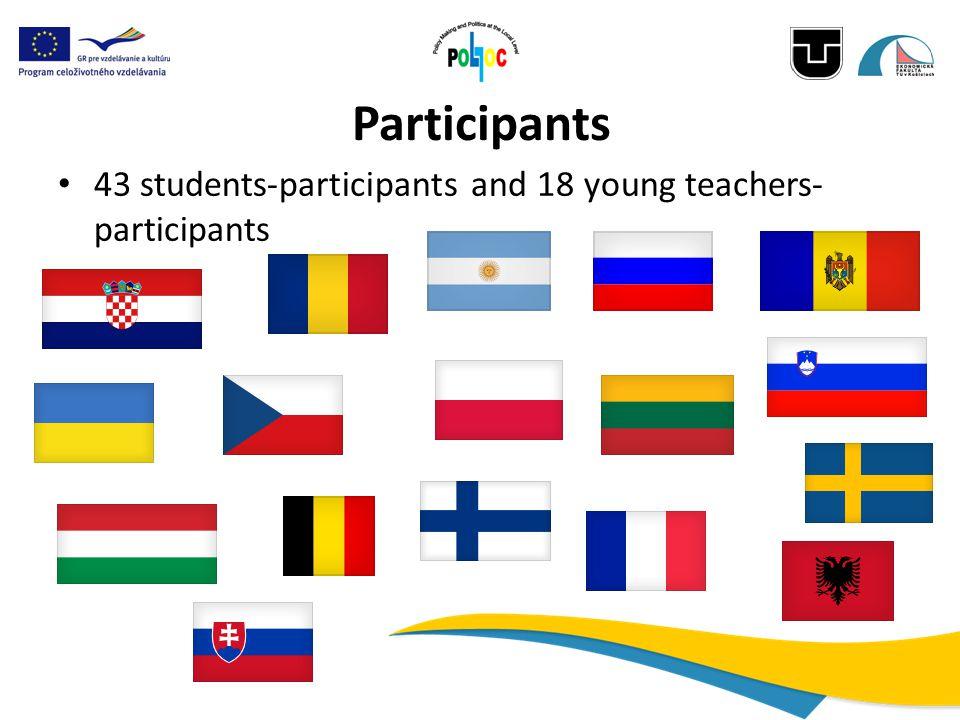 Participants 43 students-participants and 18 young teachers- participants