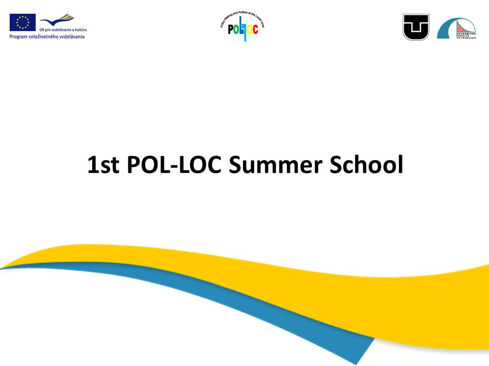 1st POL-LOC Summer School