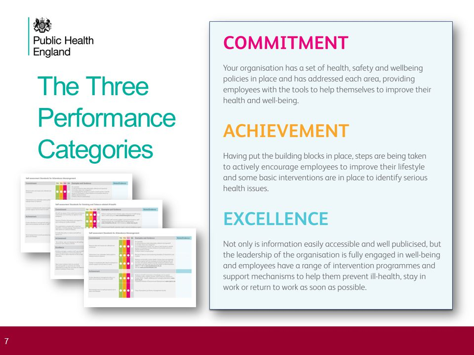 The Three Performance Categories 7