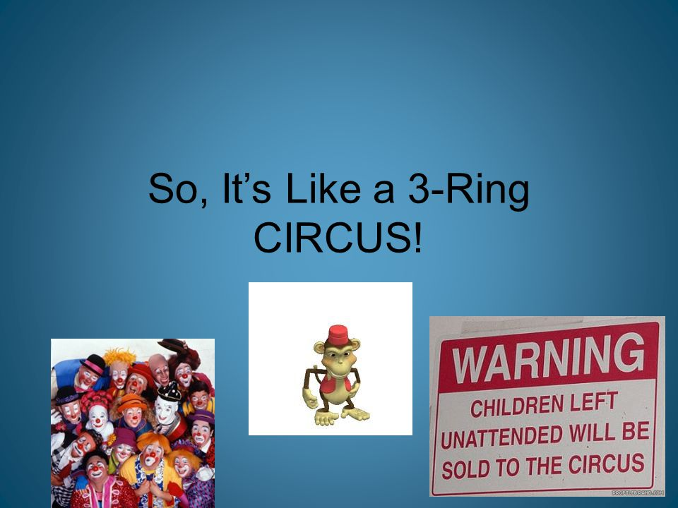 So, It's Like a 3-Ring CIRCUS!