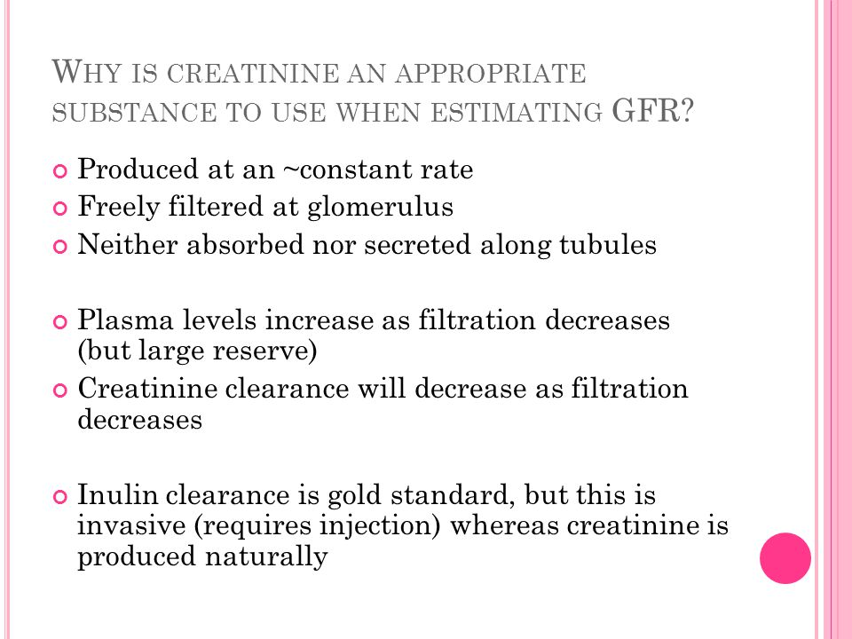 W HAT ARE THE PITFALLS IN USING SERUM CREATININE TO ESTIMATE KIDNEY FUNCTION .