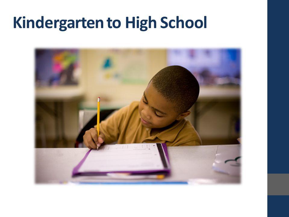 Kindergarten to High School