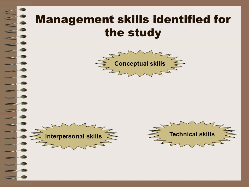 Findings Assistance to a great extenta moderate extent a small extent Business skills Marketing skills60%8%32% Financial skills48%0%52% Legal skills20%12%68% Entrepreneurial skills 56%20%24% Management skills Conceptual skills 64%4%4%32% Interpersonal skills 68%32%0% Technical skills52%40%8%