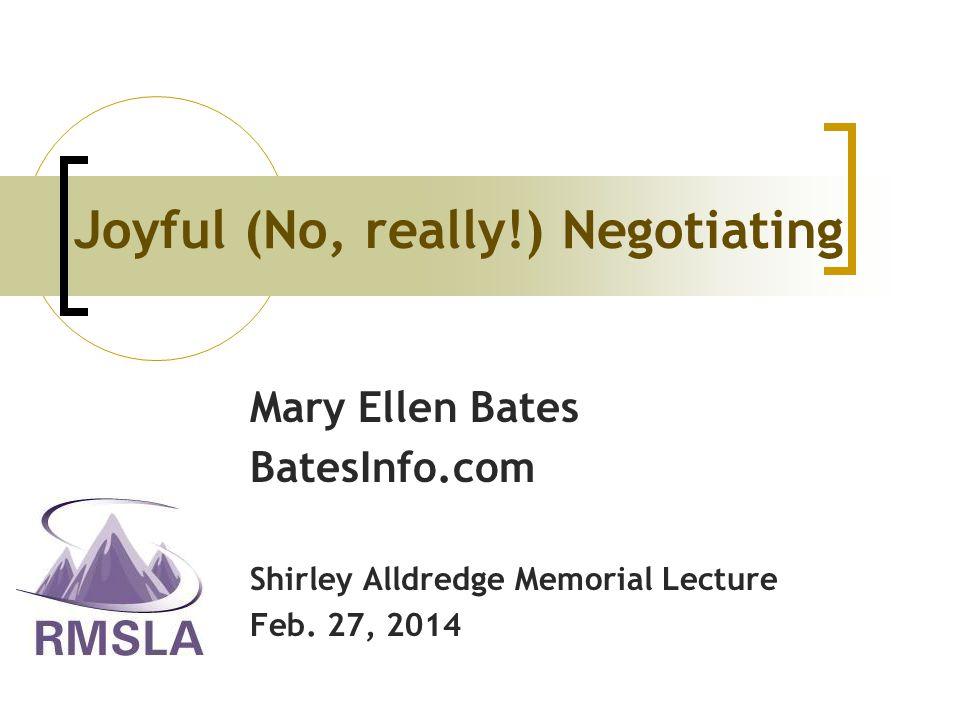 Mary Ellen Bates BatesInfo.com Shirley Alldredge Memorial Lecture Feb.