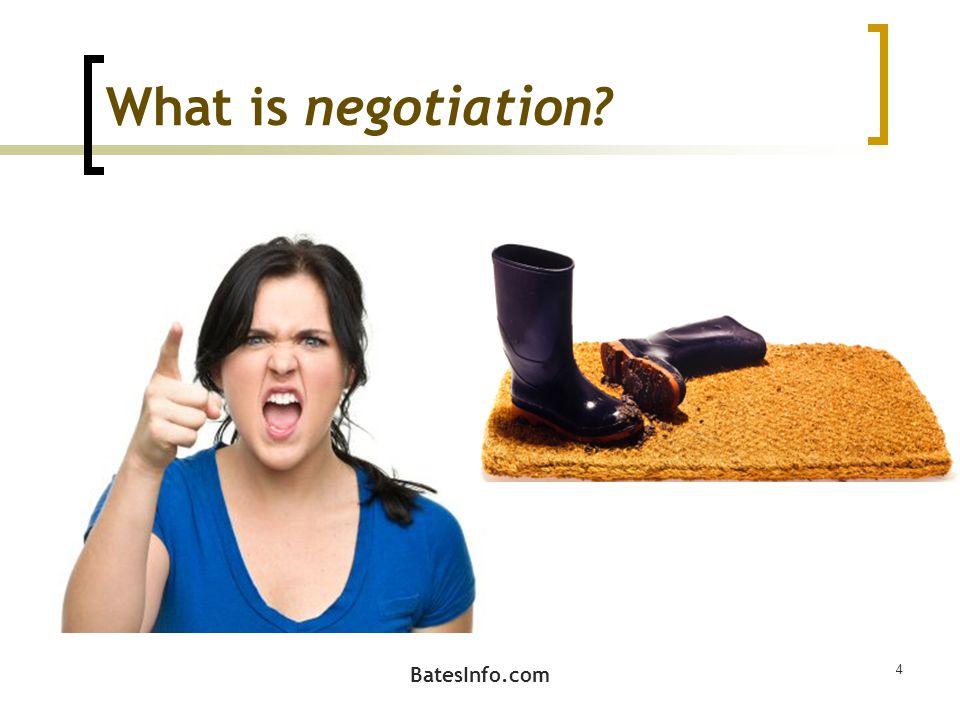 What is negotiation 4 BatesInfo.com