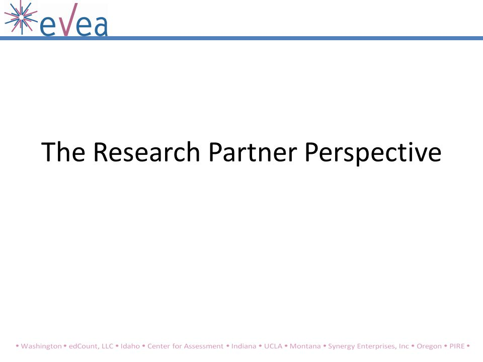 The Research Partner Perspective