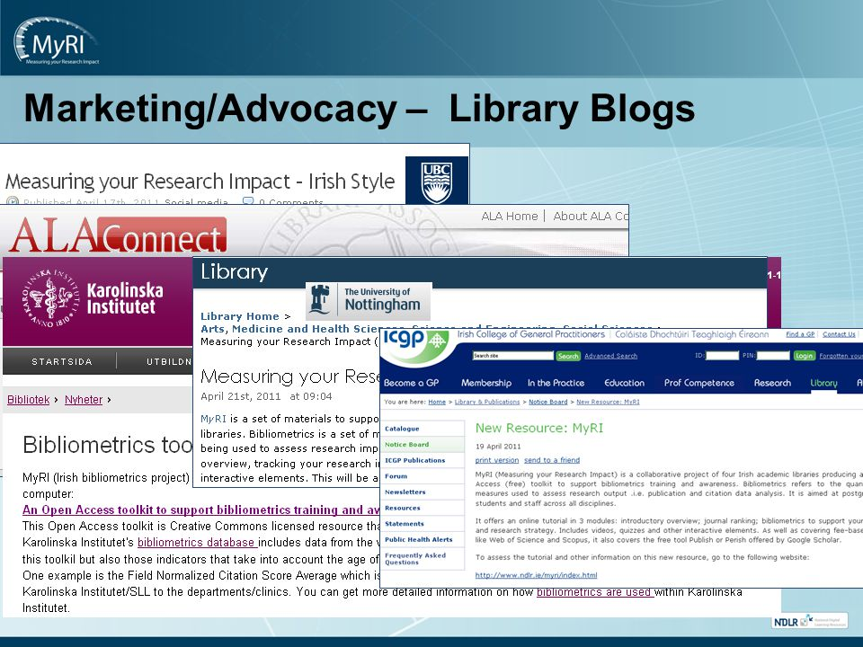 Marketing/Advocacy – Library Blogs