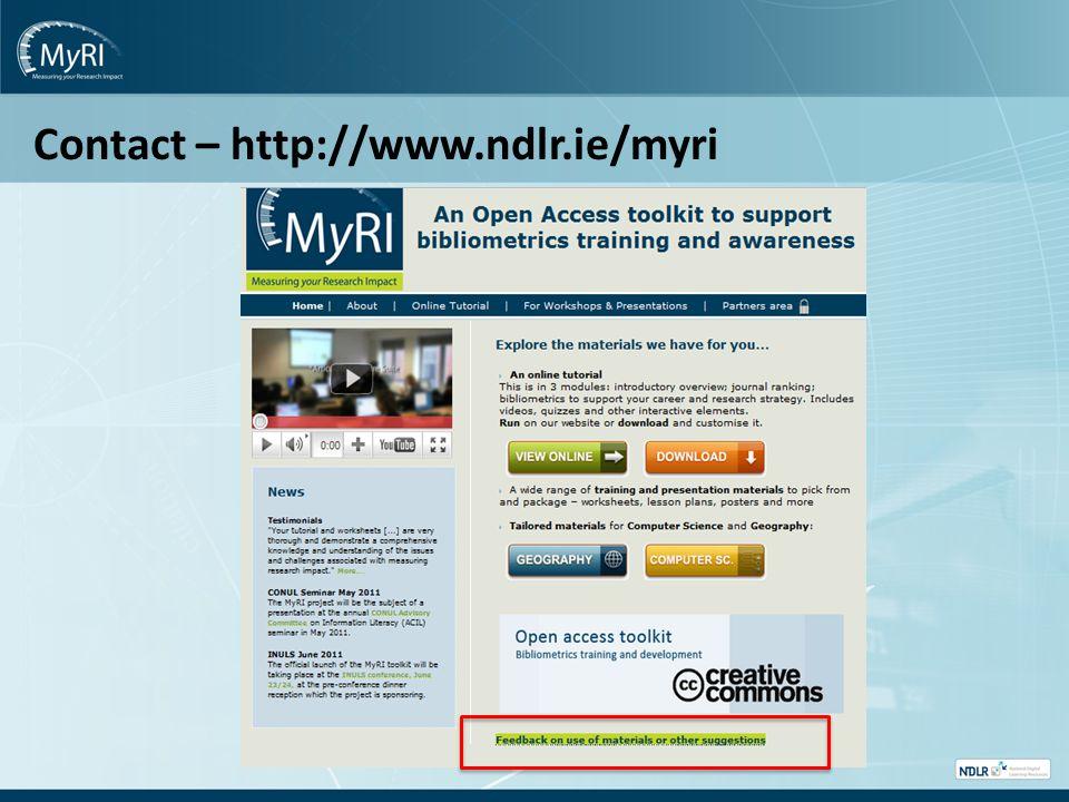 Contact – http://www.ndlr.ie/myri