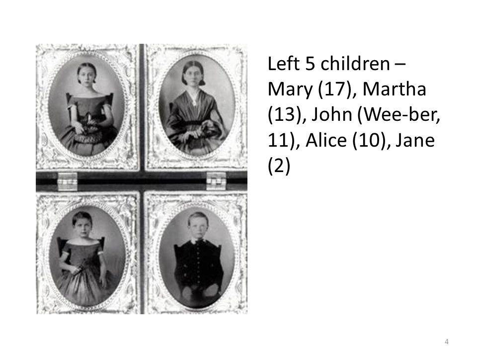 Father: John Huey Addams Self-made man, Miller, Banker and Illinois State Senator.