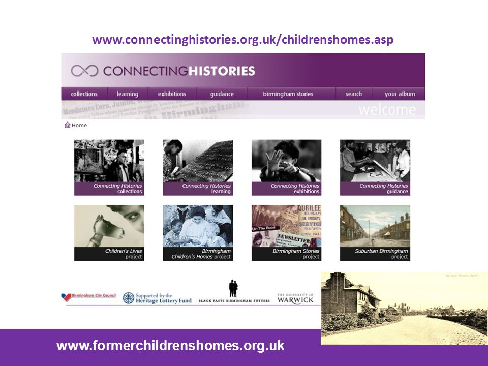 www.connectinghistories.org.uk/childrenshomes.asp www.formerchildrenshomes.org.uk