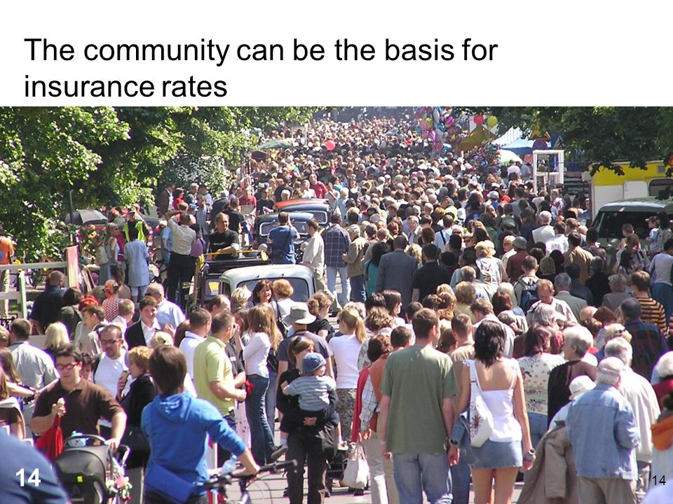 The community can be the basis for insurance rates 14