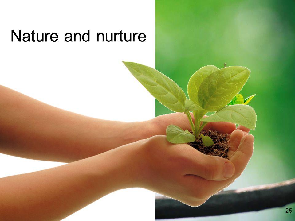 Nature and nurtureNature 25