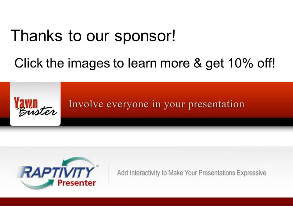 Thanks to our sponsor! Click the images to learn more & get 10% off!