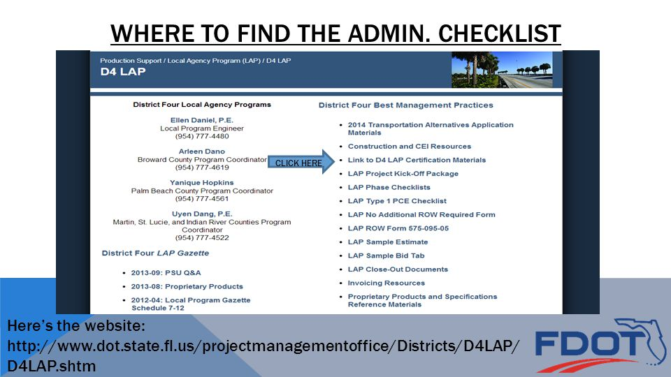 WHERE TO FIND THE ADMIN.