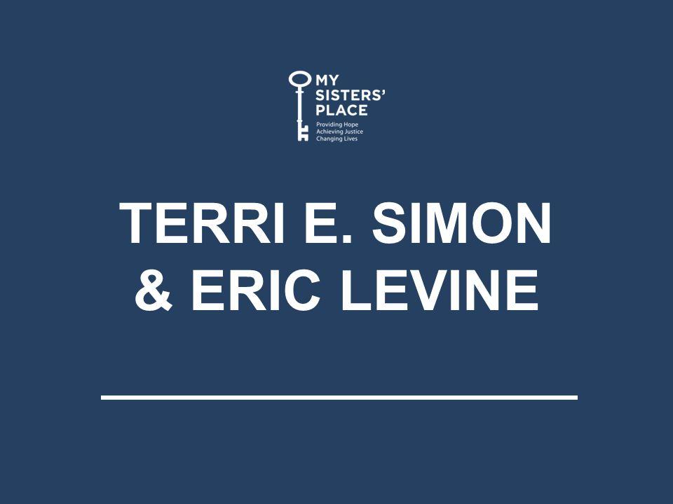 TERRI E. SIMON & ERIC LEVINE