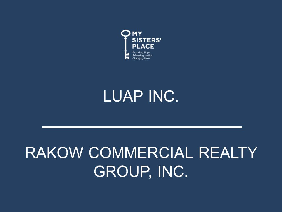 LUAP INC. RAKOW COMMERCIAL REALTY GROUP, INC.