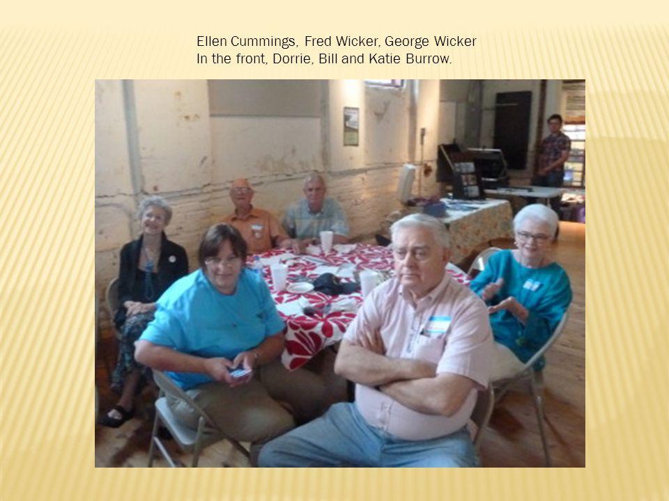 Ellen Cummings, Fred Wicker, George Wicker In the front, Dorrie, Bill and Katie Burrow.