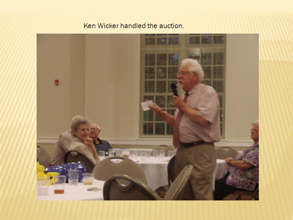 Ken Wicker handled the auction.
