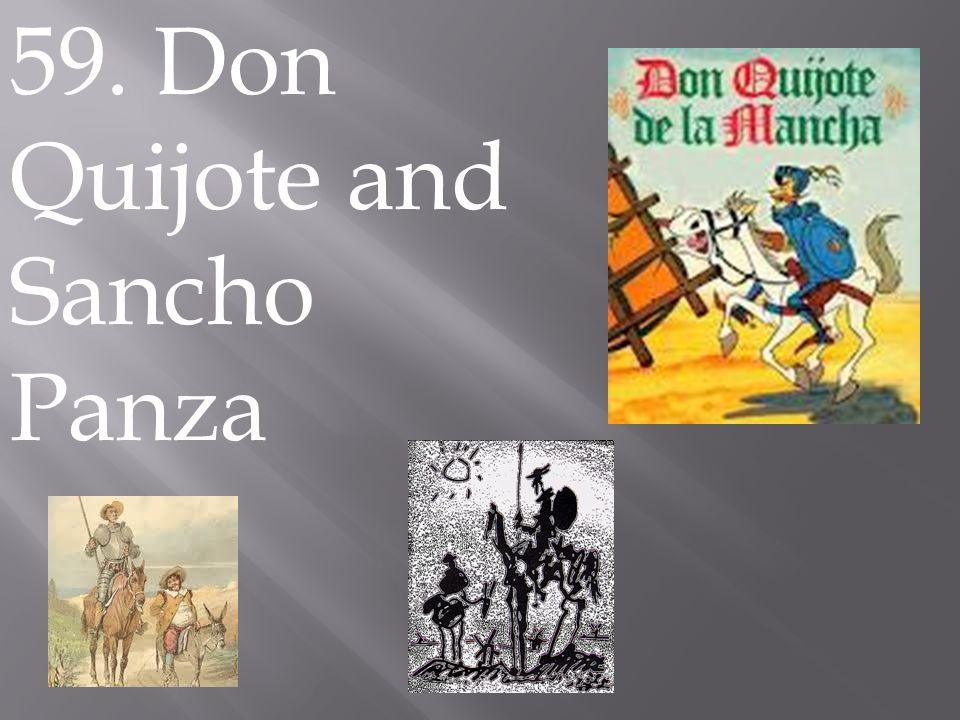 59. Don Quijote and Sancho Panza