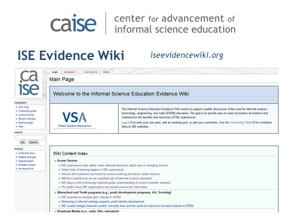ISE Evidence Wiki iseevidencewiki.org