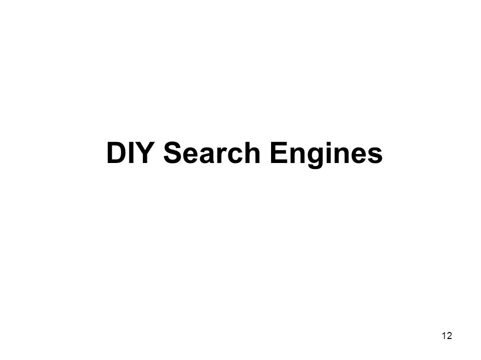 12 DIY Search Engines