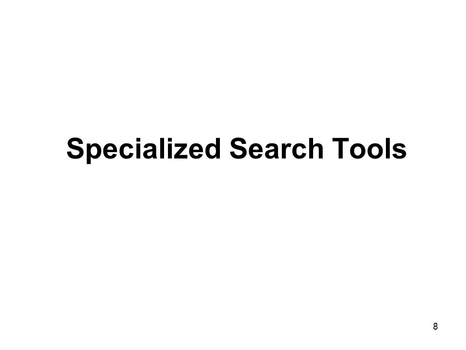 8 Specialized Search Tools
