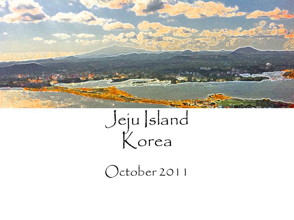 Jeju Island Korea October 2011