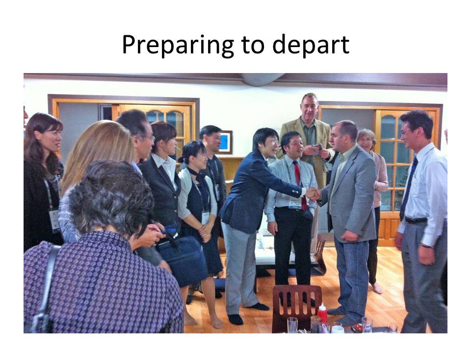 Preparing to depart