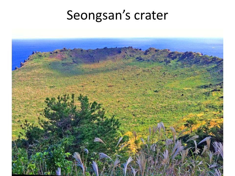 Seongsan's crater