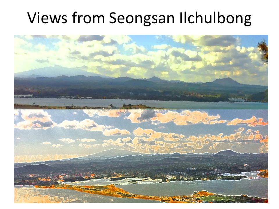 Views from Seongsan Ilchulbong