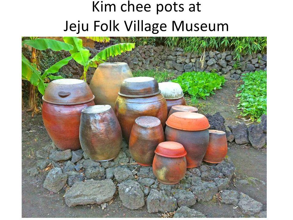 Kim chee pots at Jeju Folk Village Museum