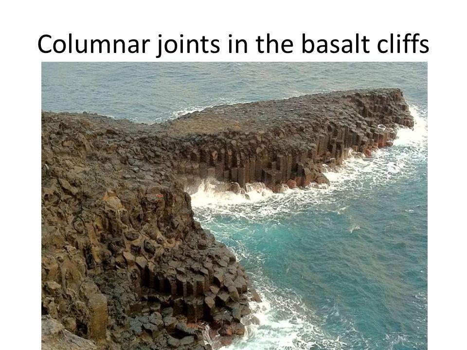 Columnar joints in the basalt cliffs