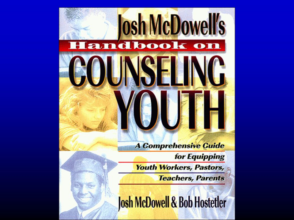 Josh McDowell s Handbook on Counseling Youth A Comprehensive Guide for Equipping Youth Workers, Pastors, Teachers, and Parents by Josh McDowell, Josh McDowell,Josh McDowellJosh McDowell Bob Hostetler Bob Hostetler List Price: $18.99 Our Price: $15.19 Paperback (June 1996) Word Books; ISBN: 084993236X ; Dimensions (in inches): 1.20 x 9.12 x 7.34
