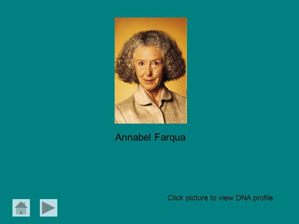 Annabel Farqua Click picture to view DNA profile