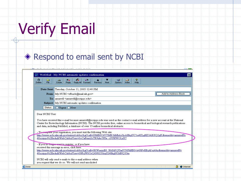 TSRI holdings To get TSRI holdings Sign into MyNCBI Click MyNCBI Click Outside Tool on left