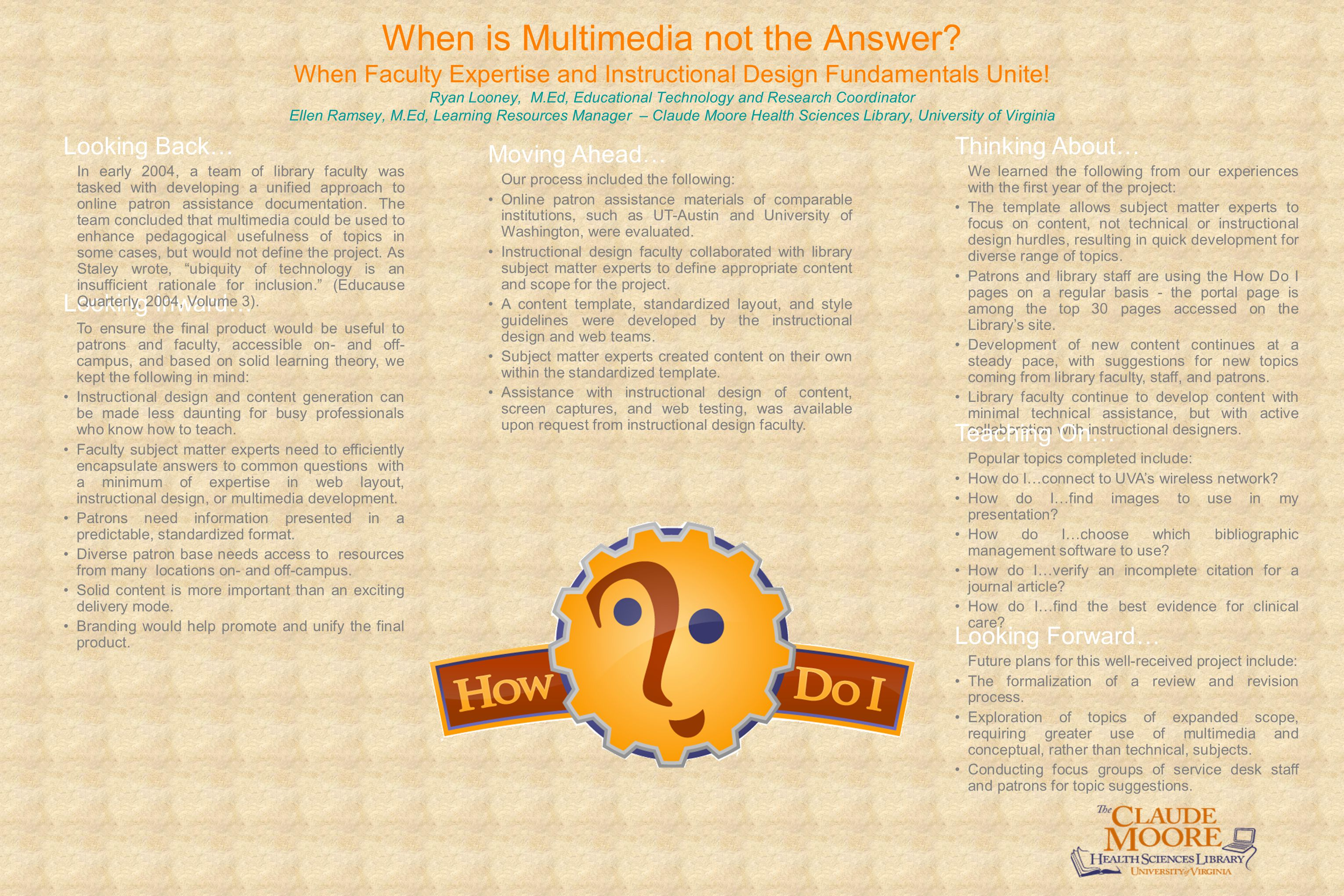 When is Multimedia not the Answer.