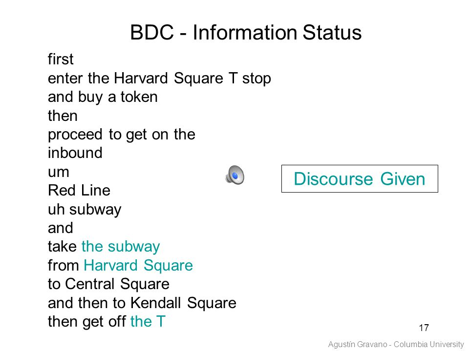 17 first enter the Harvard Square T stop and buy a token then proceed to get on the inbound um Red Line uh subway and take the subway from Harvard Squ