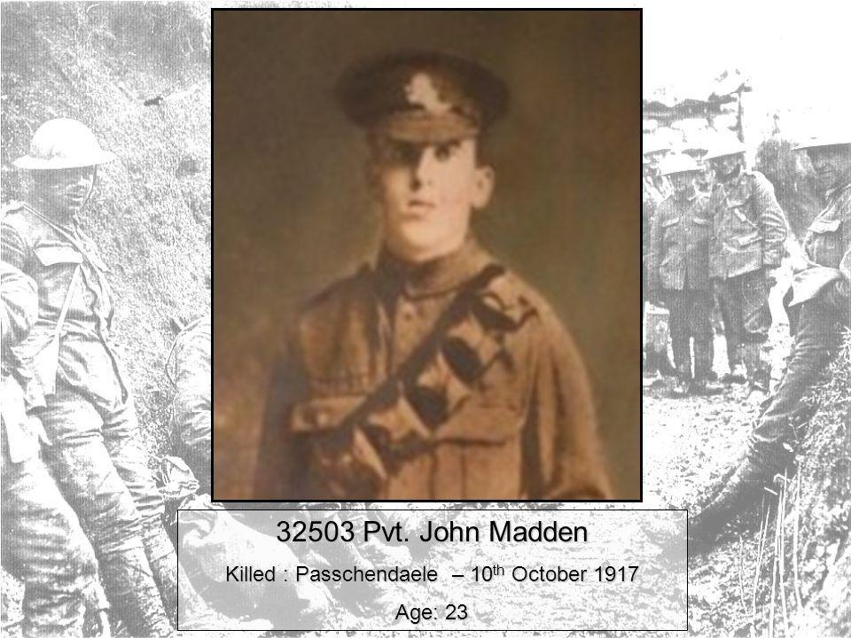 Pvt. John Madden 1st Battalion East Surrey Regiment