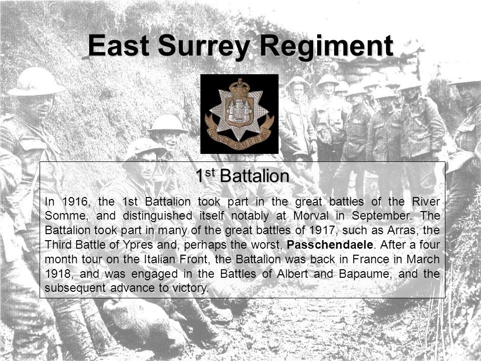Badges & Insignia East Surrey Regiment Cap Badge King s crown type bimetal cap badge of the regiment.