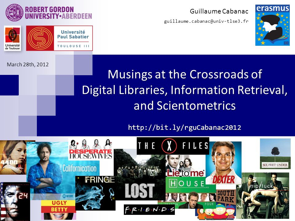 52 Musings at the Crossroads of DL, IR, and SCIM Guillaume Cabanac Question SCIM-2 What is the landscape of research in Information Systems from the perspective of gatekeepers.