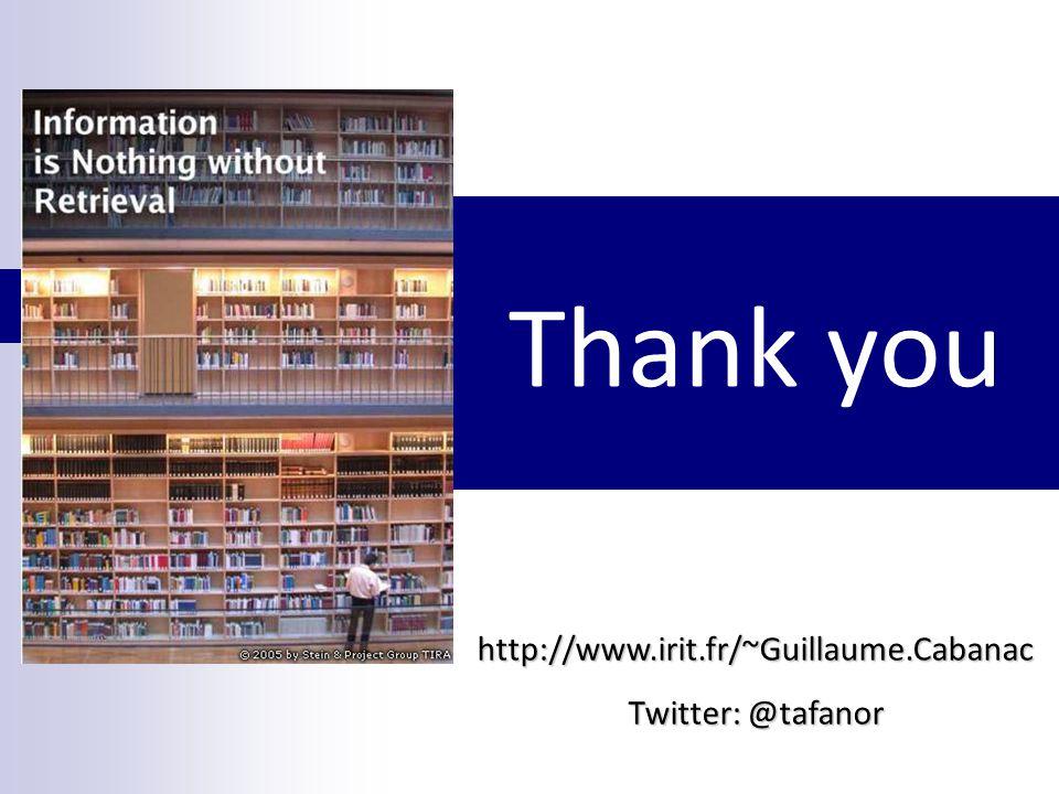 Thank you http://www.irit.fr/~Guillaume.Cabanac Twitter: @tafanor