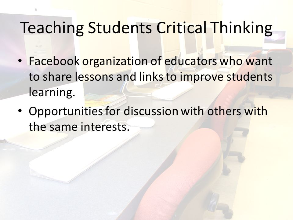Possible Uses for this Network Educators from all levels can share lesson ideas, discuss educational and general curriculum information and generate new ideas.