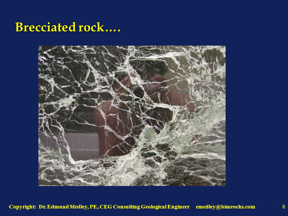 Chaotic Geology: apparent layers are blocks, lenses, inclusions…..