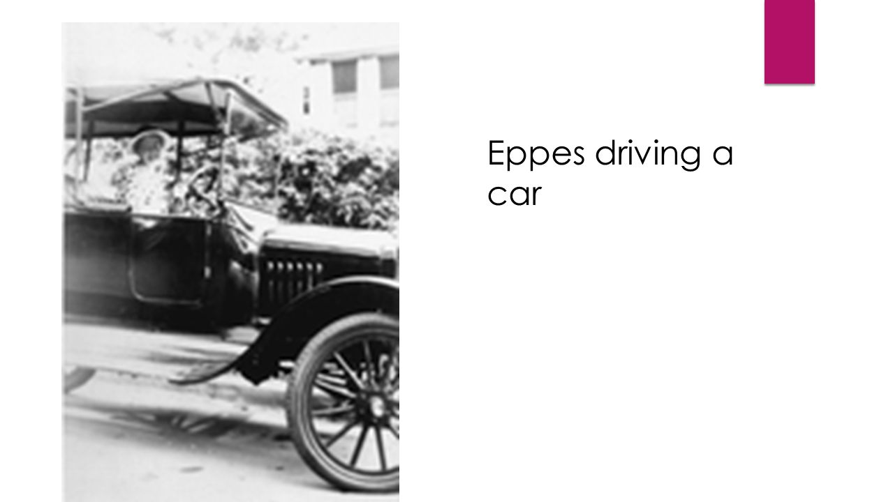 Eppes driving a car