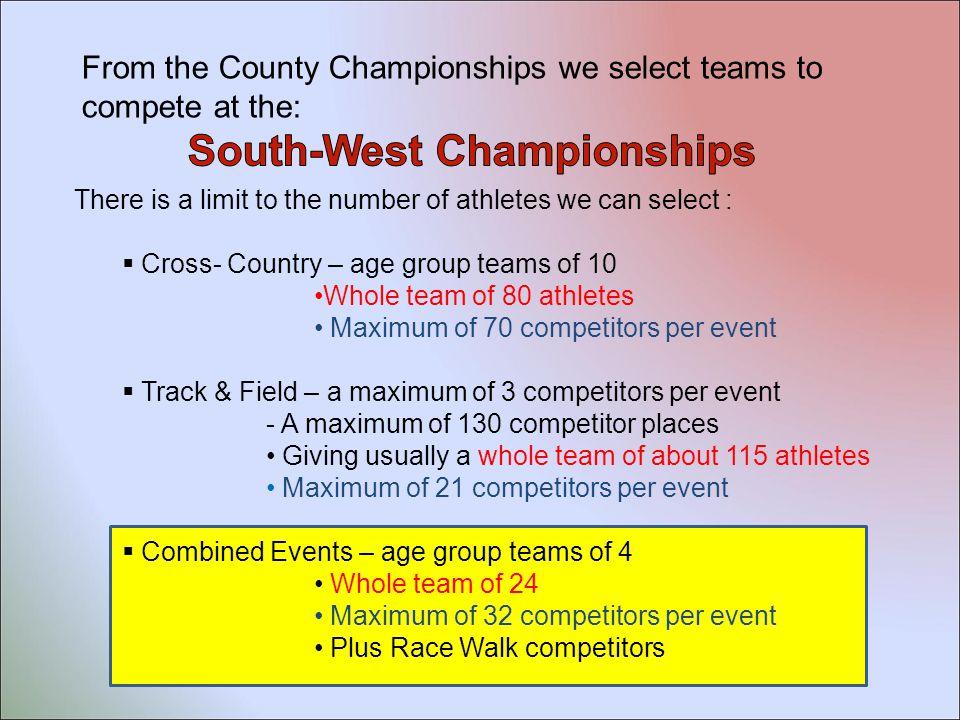 Sunday 19th April Sprints Endurance Hurdles Steeplechase Long Jump Triple Jump High Jump Pole Vault Javelin Discus Shot Hammer Choose 2 events Somerset Coaching Courses - 2015