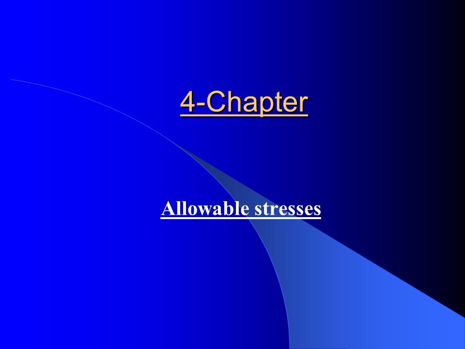 4-Chapter Allowable stresses