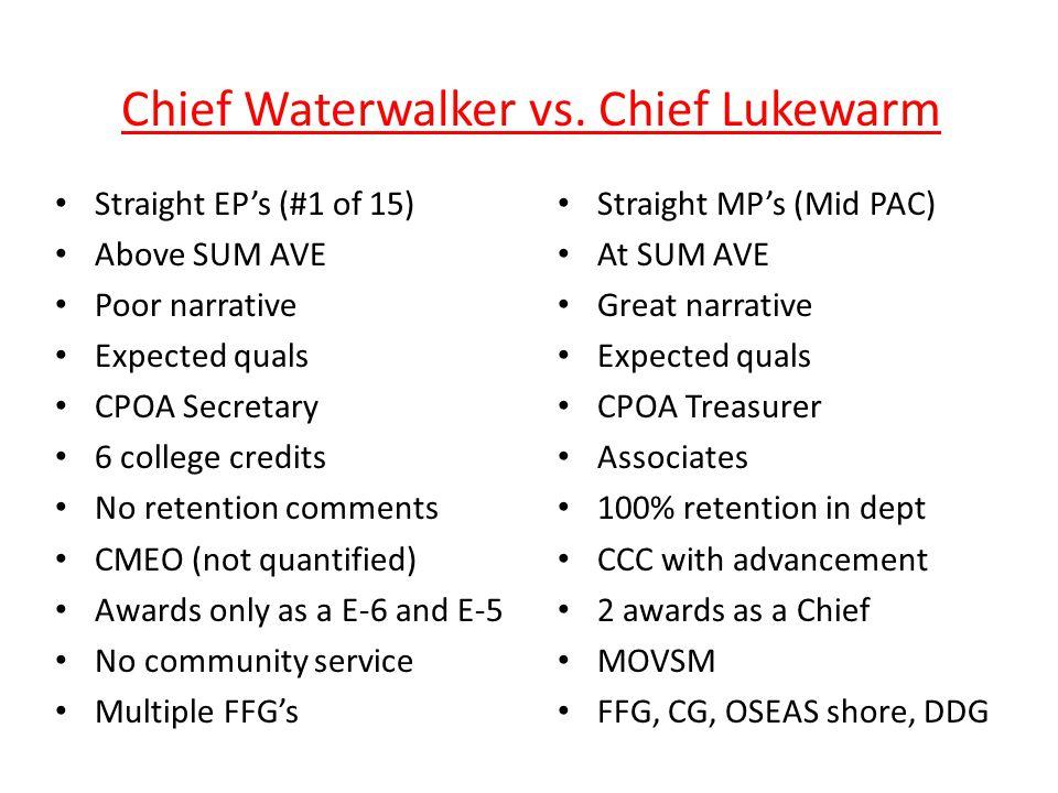 Chief Waterwalker vs.