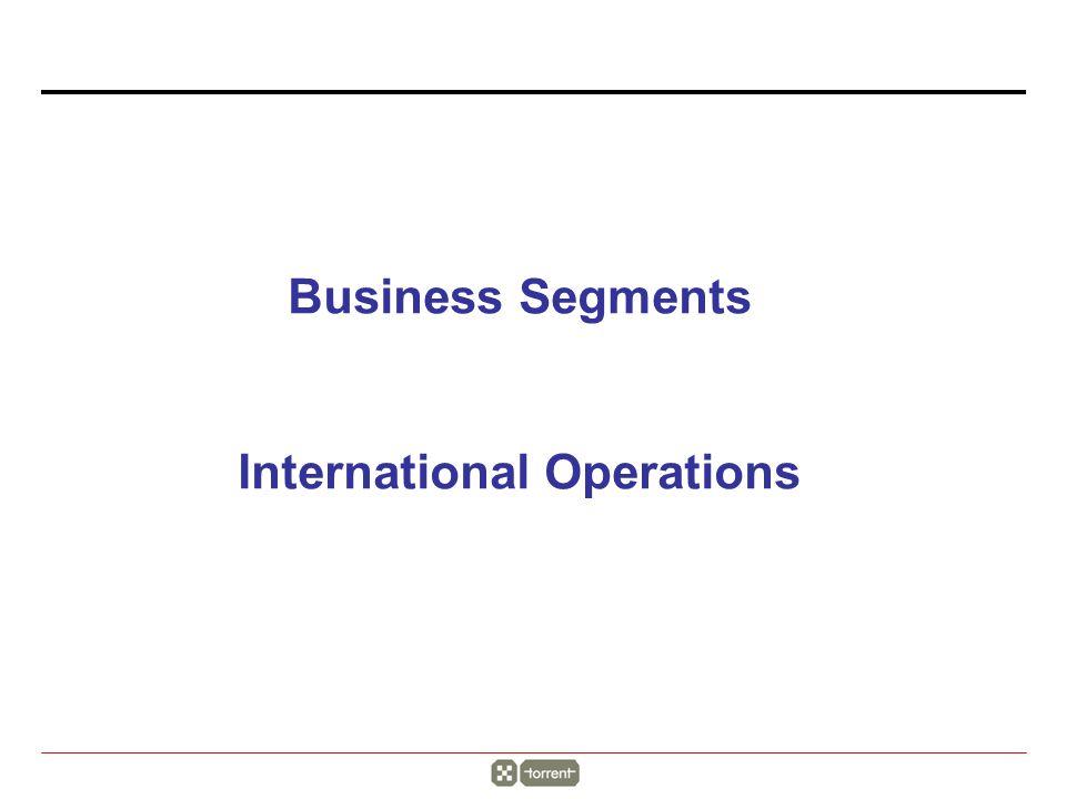 Business Segments International Operations