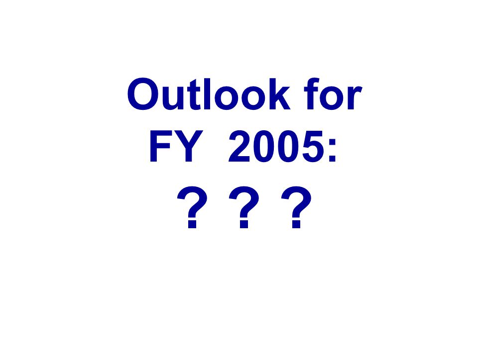Outlook for FY 2005: