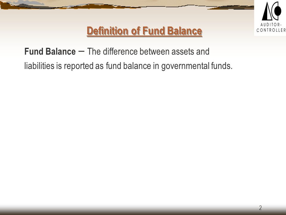 12 Scenario 4 – Use of Fund Balance in Sub-fund 20001: Department of Transportation, sub-fund 20001 has a fund balance of $50,000 that was carried over from FY 03.